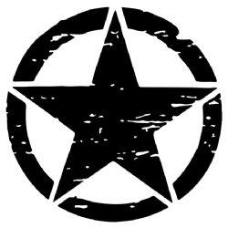 Adesivo - Estrela Militar