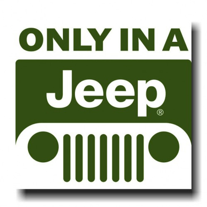 Placa - Only in a Jeep 3