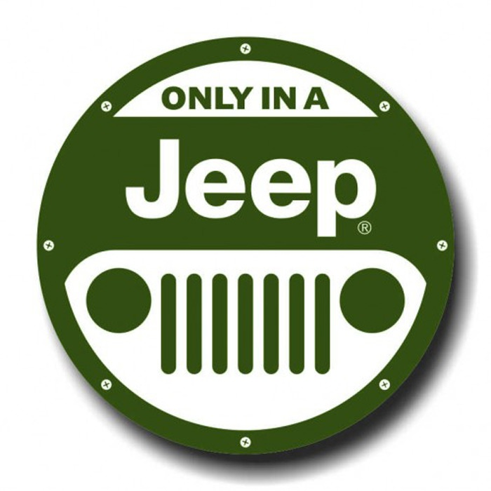 Placa - Only in a Jeep 2